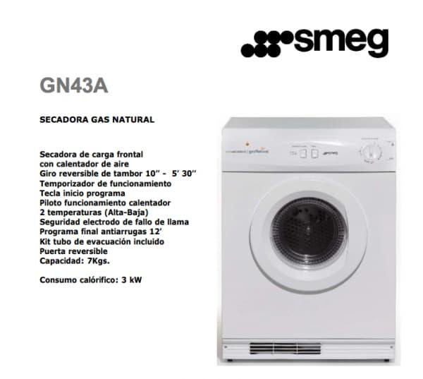 smeg secadora a gas