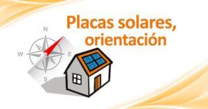 orientacion placas solares